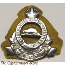 Cap badge Officers Royal Canadian Army Pay Corps (R.C.A.P.C.)