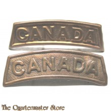 Shoulder titles Canada (full brass)
