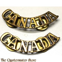 Shoulder titles CANADA (brass)