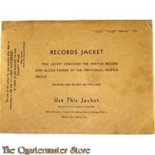 US Army Records Jacket 1943