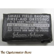 First aid field dressing brown small WW2