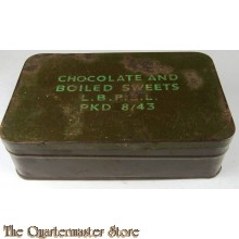 Ww2 Ration Tin 1944 Chocolate & Boiled Sweets