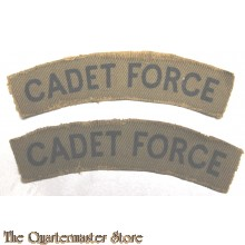 Shoulder flashes Cadet Force (canvas)