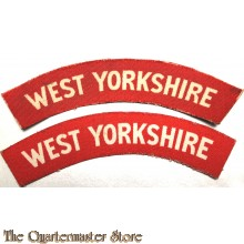 Shoulder flashes West Yorkshire (canvas)