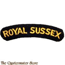 Shoulder flash Royal Sussex Regiment