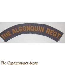 Shoulder title The Algonquin Regiment 4th Canadian Armoured Division (canvas)