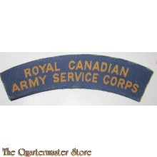 Shoulder title Royal Canadian Army Service Corps R.C.A.S.C. (canvas)