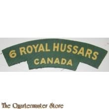 Shoulder flash The Royal Canadian Hussars (Montreal) (RCH) (canvas)