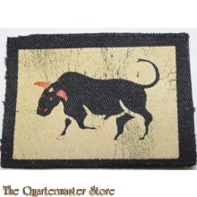 """Formation patch 11th Armoured Division """"The Black Bull"""" (canvas)"""