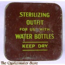 sterilizing outfit for use with water bottles