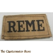 Slip on Royal Electrical and Mechanical Engineers (R.E.M.E.) canvas