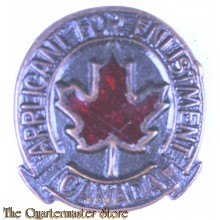 Lapel badge Participent for Enlistment CANADA