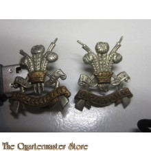 Collar badges 3rd Carabiniers Prince Of Wales's Dragoon Guards
