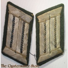 Very nice - and fully matching! - pair of WH (Heeres) officers'-type collar-tabs, as intended for an officer within a: 'Sanitäter' (ie.medical) regiment ie. unit - overall very nice albeit moderately used ie. tunic-removed condition!  This is a truly very