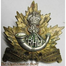 Capbadge The Royal Hamilton Light Infantry (Wentworth Regiment) WW2
