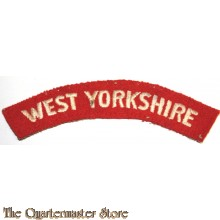 Shoulder flash West Yorkshire Regiment (Prince of Wales's Own) (14th Foot)