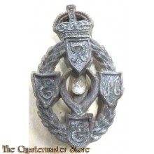 Cap badge Royal Mecanical and Mecanical Engineers R.E.M.E. (plastic)