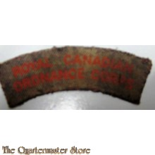 Shoulder flash Royal Canadian Ordnance Corps  R.C.O.C. (canvas)