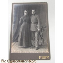 AnsichtsKarte (Mil. Postcard) Soldier with wife 1916