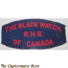 Shoulder title The Black Watch R.H.R. of Canada, 2nd Canadian Division