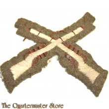 View larger Crossed Rifles (Marksman) Small White On Khaki Embroidered Army cloth trade badge