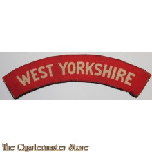 Shoulder flash West Yorkshire Regiment (canvas)