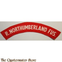 Shoulder flash The Royal Northumberland Fusiliers (canvas)