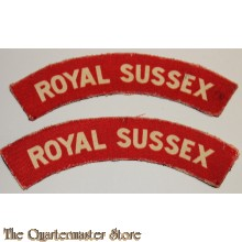 Shoulder flashes Royal Sussex (canvas)