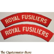 Shoulder flashes Royal Fusiliers (canvas)