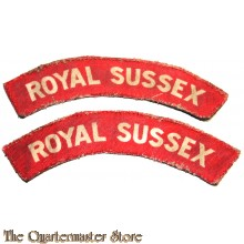 Shoulder flashes Royal Sussex Regiment (canvas)
