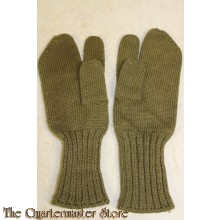 British/Canadian wool trigger finger gloves/mittens WW2