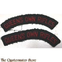 Shoulder flashes Queen's Own Rifles of Canada, 3rd Canadian Infantry Division