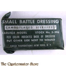 Small battle dressing  camouflaged sterilized