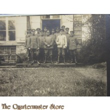 AnsichtsKarte (Mil. Postcard) photo 1916 group officers posing