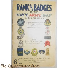Ranks and Badges in the Navy, Army, RAF and Auxiliaries, 1940 published