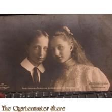 AnsichtsKarte (Postcard) photo Prinz Joachim und Prizessin Victoria Louise von Preussen