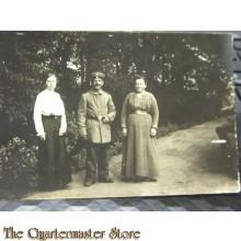 AnsichtsKarte (Mil. Postcard) soldat mit Frau und Mutter
