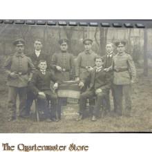 AnsichtsKarte (Mil. Postcard) 4x manschaften aufs Wiedersehn 1916