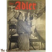 Zeitschrift Der Adler heft 6 23 Marz 1943 (Magazine Der Adler no 6 23 March 1943)