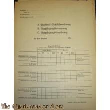 Heer Personal-Stärkeberechnung/Verpflegungsberechnung/Verpflegungsabrechnung 1944