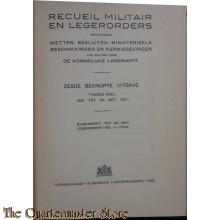Reciuel Militair en Legerorders deel 2 1929-1937