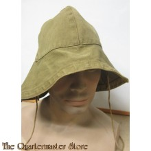 WW2 French tropical hat with neck protection (WW2franse tropen hoed met nekbescherming)