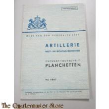 Ontwerp voorschrift No 1867 Planchetten Artillerie