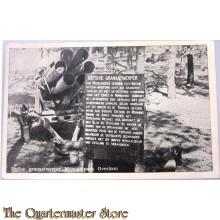 Prent briefkaart Duitse granaatwerper Museumpark Overloon