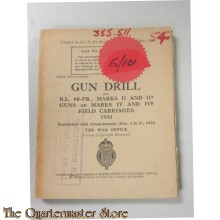 Manual Gun Drill for B.L. 60 Marks II and II* Guns on Marks  IV and IVr  Field Carriages 1934