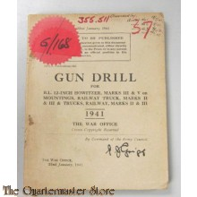 Manual Gun Drill for B.L. 12-Inch Howitzers , Railway truck, Marks II and III and Trucks Railway Marks II and III 1941