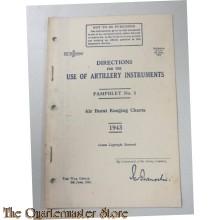 Pamphlet No 1 Use of Artillery Instruments Air Burst Ranging Charts