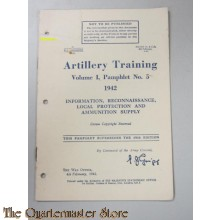Pamphlet No 5 Vol I  Artillery Training Information, Recon Ammo supply