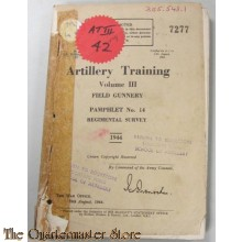 Pamphlet No 14 Vol III Artillery Training Regimental Survey