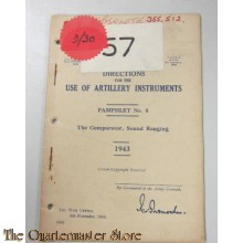 Pamphlet No 8 use of Artillery instruments